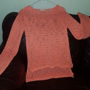 Tops - Beautiful net sweater w/silver trimmings
