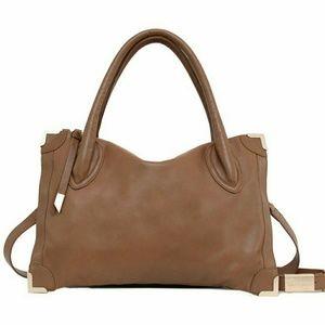 🆕Foley +Corinna Frankie satchel, Chestnut color