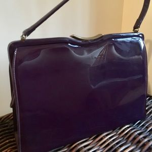 Handbags - Purple patent leather from the 50 or 60s