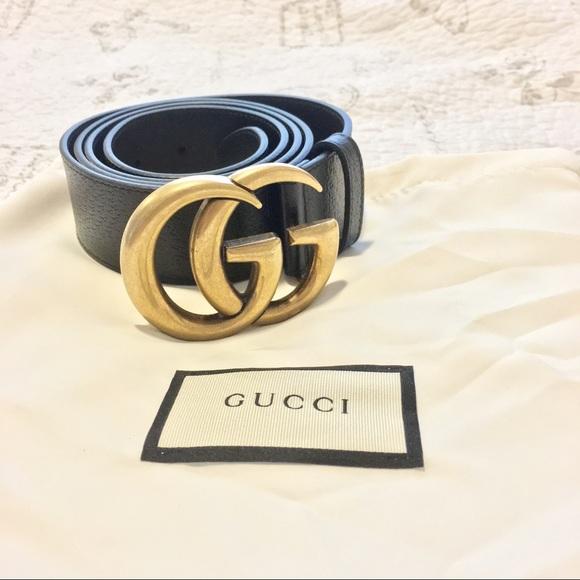 0777a8efd Gucci Accessories | Double G Black Leather Belt Size 105 Cm | Poshmark