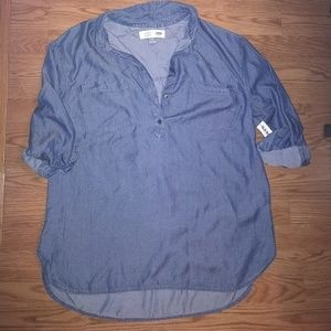 Super soft slinky chambray top