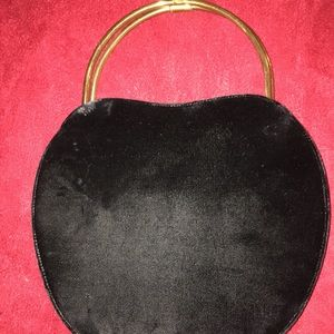 Handbags - Black velvet purse
