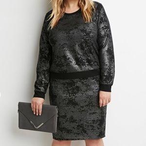 Sweaters - 🖤🆕Metallic Shimmer Black Sweater-Edgy Modern NWT