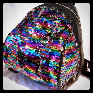 Handbags - 🌈BUY TODAY 🌈 Mini Backpack Rainbow Sequins