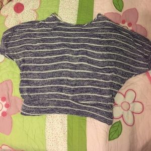 GUC Kiddo purple and white striped top size 10