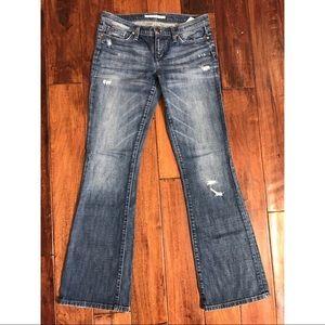 Distressed Joe's Bootcut Jeans