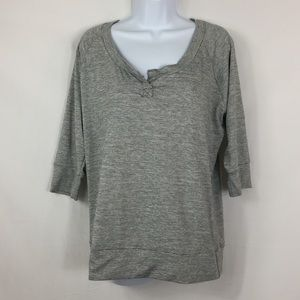 PL Movement 3/4 Sleeve Striped Top Size L