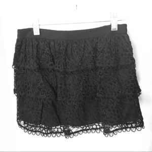 Milly mini layered lace skirt