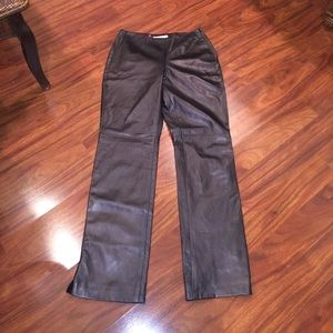 Kay Unger leather pants