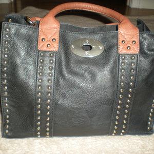 Handbags - Black purse with gold studs