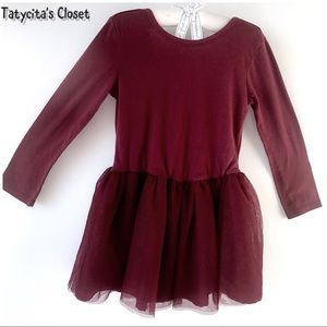 Burgundy Top with skirt attached 3T