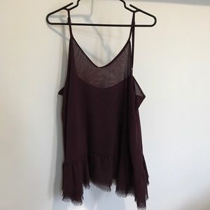 Brandy Melville dark purple dress, low back.