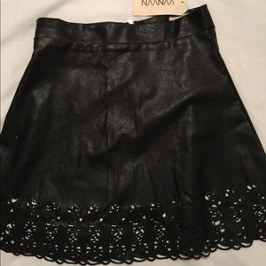 260835573 🔻NAANAA🔻BLACK FAUX leather Mini Skirt