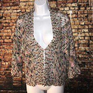 Crochet cropped cardigan size large beautiful