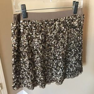 "Peek ""Zoe"" gold sequin skirt"