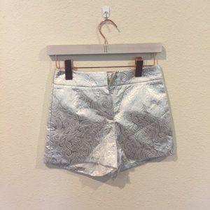 Gianni Bini silver brocade shorts