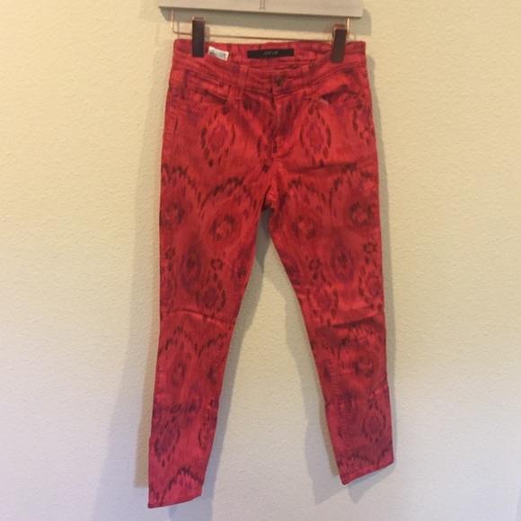 Joe's Jeans Denim - Joe's jeans red patterns skinny jeans