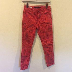 Joe's Jeans Jeans - Joe's jeans red patterns skinny jeans