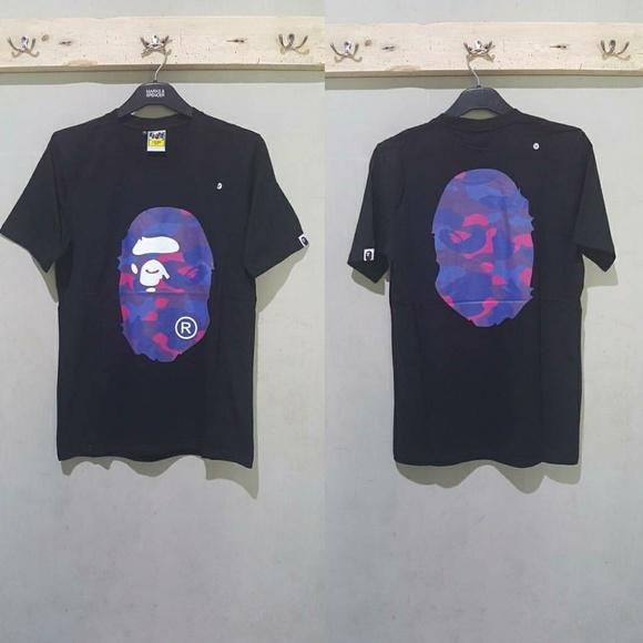 1ddd464bd Bape Shirts | 1 Listing Left Color Camo Big Ape Head Purple | Poshmark