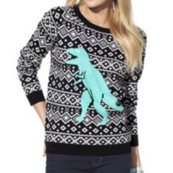 la hearts dinosaur ugly christmas sweater - Ugly Christmas Sweater Dinosaur