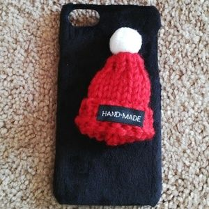 Accessories - Iphone 7 Case Handmade Plush Cap Hat Fur Knitted