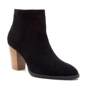Shoes - New Arrival- Girl Boss Vegan Suede Ankle Booties