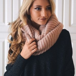 ADDIE Softest Scarf - PINK/GREY
