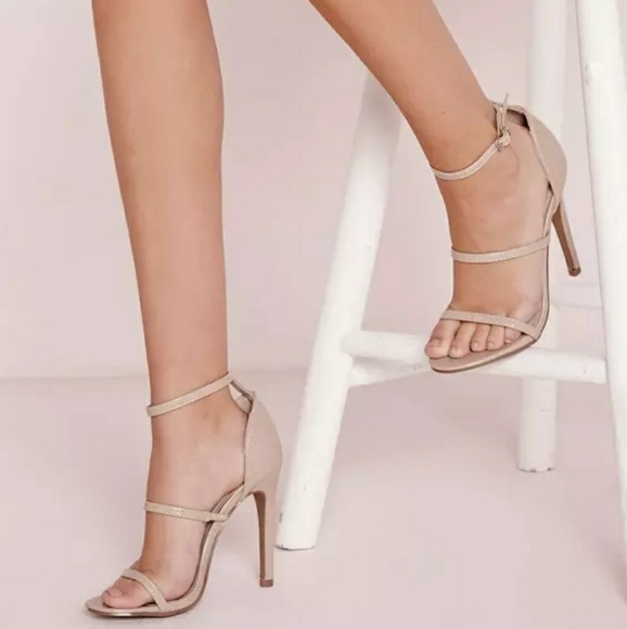 e670a8d64 💕Nude Three Strap Barely There Heeled Sandals💕. M_59a7a250bf6df5fc7f019509