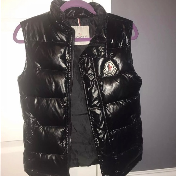 moncler black vest