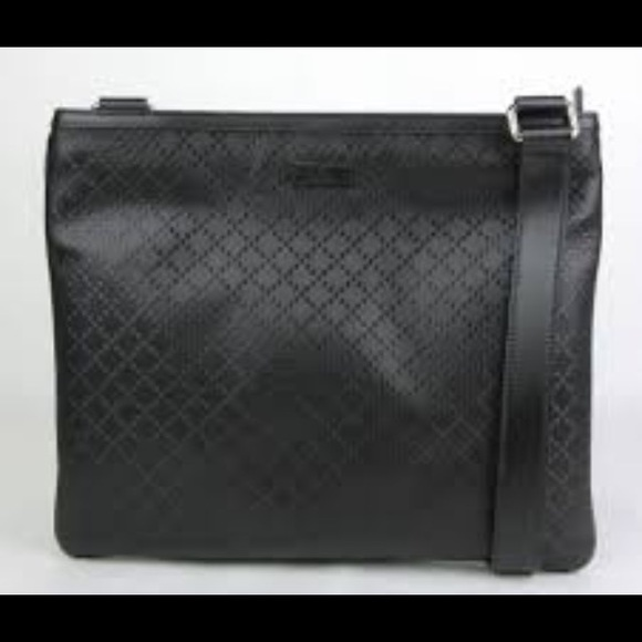 49ab1d73a Men's Authentic Gucci black leather messenger bag.  M_59a7a8f82599fe7aab01b4c3