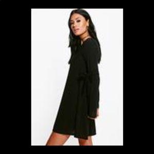 540bf603f696 Boohoo Dresses - Boohoo Hannah tie detail swing Jumper dress