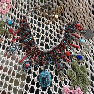 Jewelry - Buddha inspired necklace with Afghan Chas