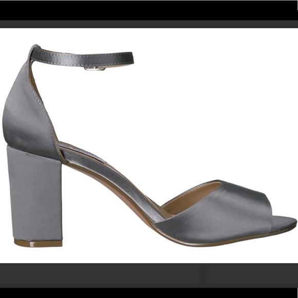 737f4df8f8b Steve Madden mirna satin blue gray block heel