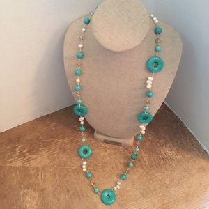 Jewelry - Necklace Sterling and authentic turquoise, Perls