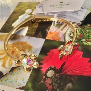 Kate Spade Gold Floral Crystal Bracelet
