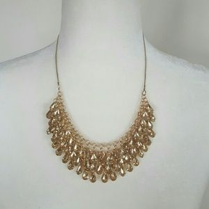 H&M Gold Jeweled Necklace