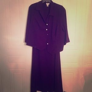 Coldwater Creek Purple Dress with Jacket