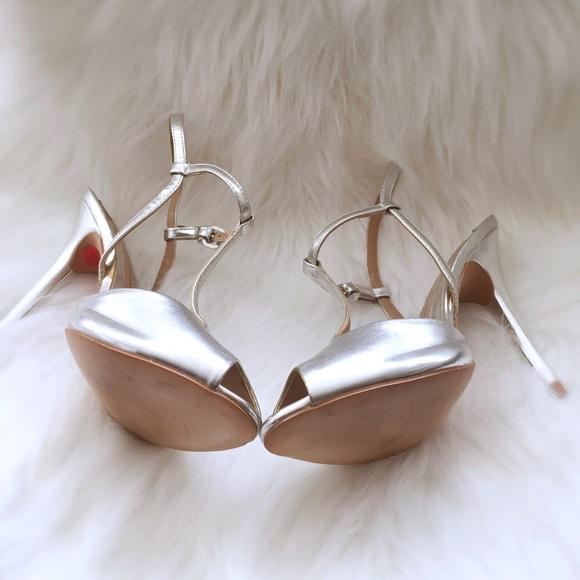 Zara Shoes - Brand New Silver Zara Collection T Strap Pumps