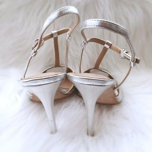 Zara Shoes - Brand New Silver Zara Collection T Strap Pumps