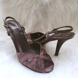 Stuart Weitzman Shoes - SOLD - Stuart Weitzman Purple Slingback Pumps