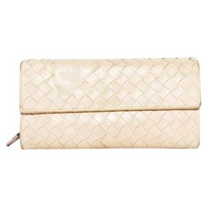 Bottega Veneta butterfly intrecciato long wallet