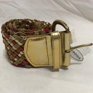 Merona braided wide belt
