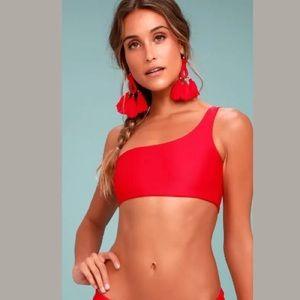 One shoulder bikini
