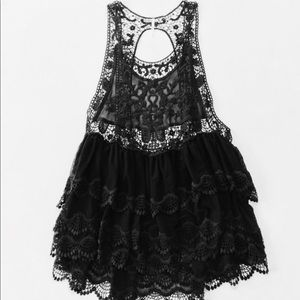 NWT FP Embroidered Lace Mini