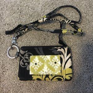 Vera Bradley ID wallet & lanyard
