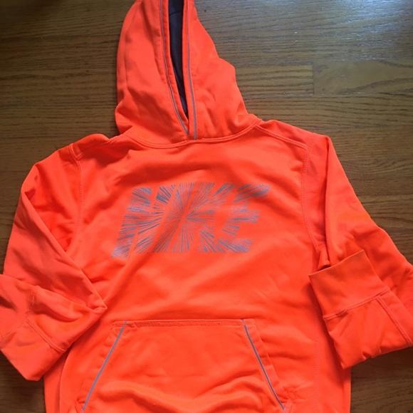 offer discounts huge inventory best sell Nike hoodie, neon orange