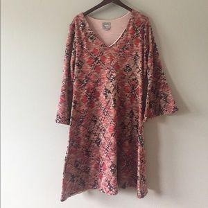 anthro maeve erina bell sleeve dress size XL