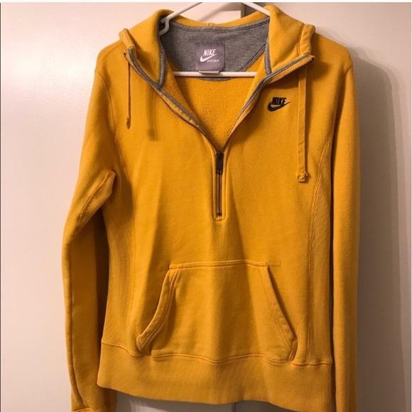 new high quality aliexpress outlet Mustard yellow Nike sweatshirt