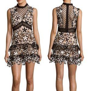 Romeo & Juliet Couture Illusion lace dress