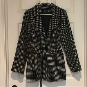 B&W Polka Dotted Short Coat
